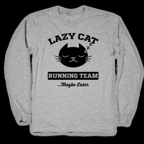Lazy Cat Running Team Long Sleeve T-Shirt