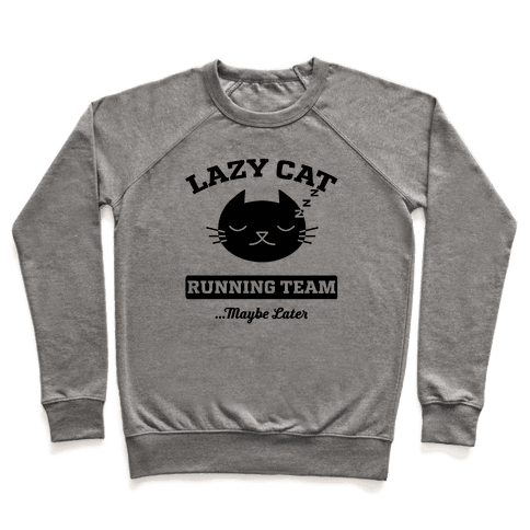 Lazy Cat Running Team Pullover