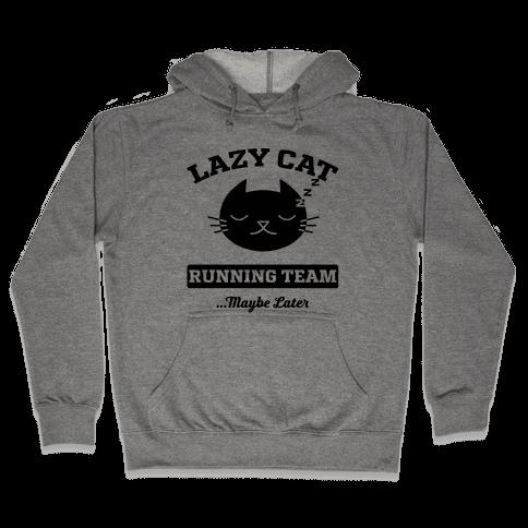 Lazy Cat Running Team Hooded Sweatshirt