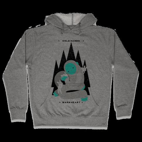 Cold Hands Warm Heart Yeti Hooded Sweatshirt