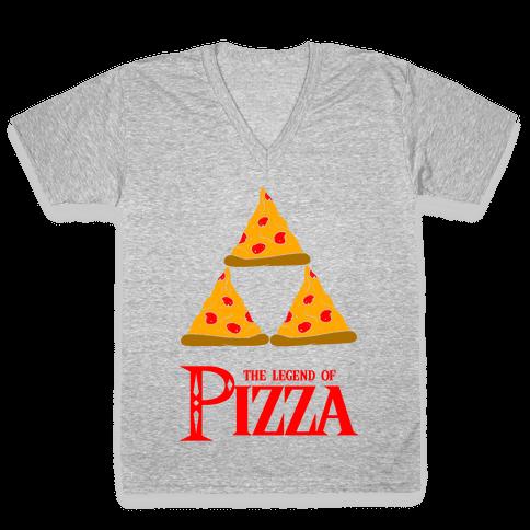 Legend Of Pizza V-Neck Tee Shirt