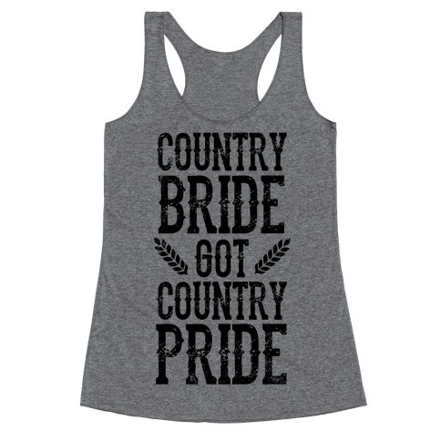 Country Bride Racerback Tank Top