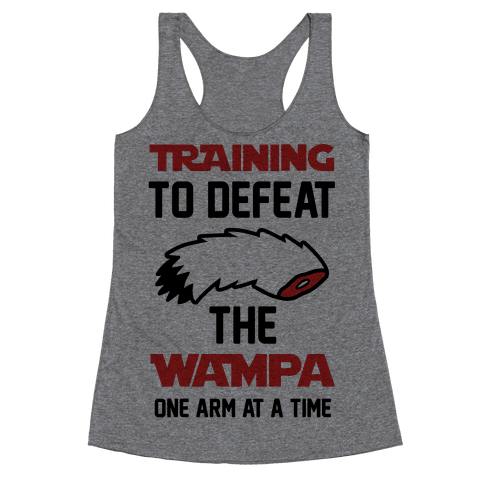 Training To Defeat The Wampa - One Arm at a Time Racerback Tank Top