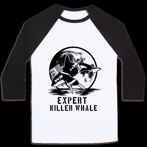 Expert Killer Whale Baseball Tee