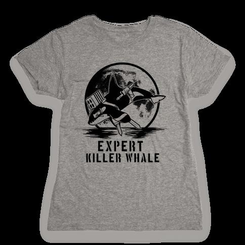 Expert Killer Whale Womens T-Shirt