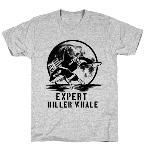 Expert Killer Whale Mens T-Shirt