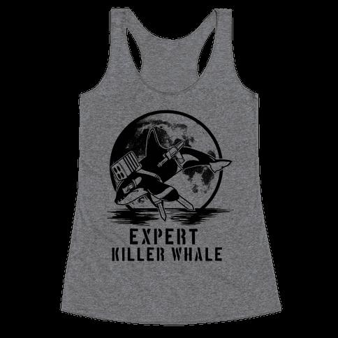 Expert Killer Whale Racerback Tank Top