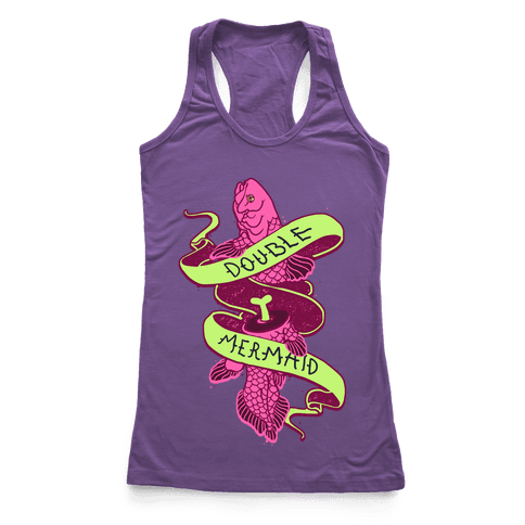 Double Mermaid Racerback Tank Top