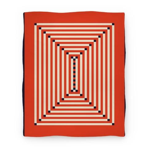 Receding Rectangles Blanket