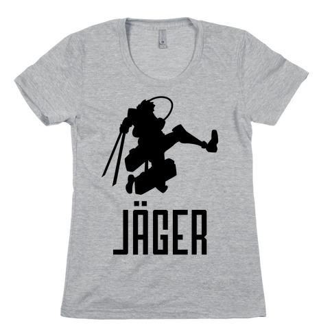 Eren Jaeger Silhouette Womens T-Shirt