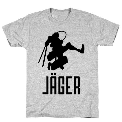 Eren Jaeger Silhouette Mens T-Shirt