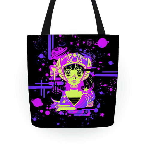 Neon Anime Space Cadet Tote