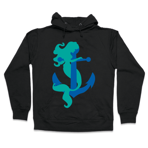 Mermaid Anchor Hooded Sweatshirt
