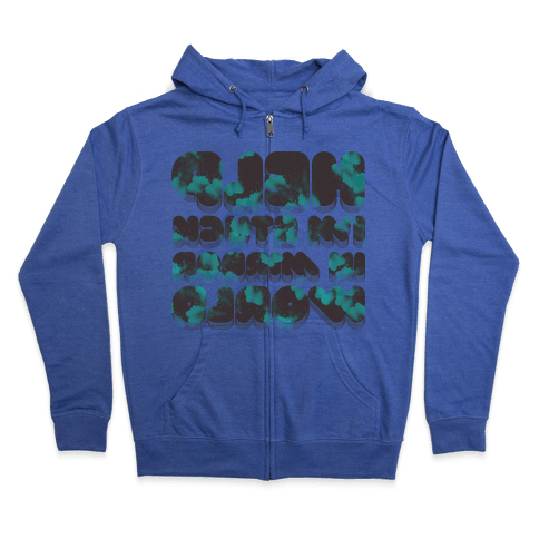 Stuck In Mirror World Zip Hoodie