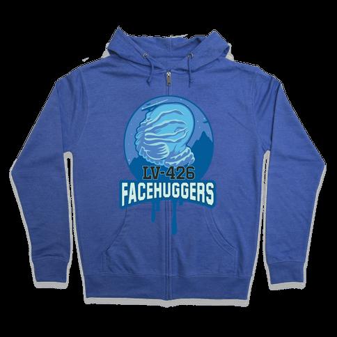 LV-426 Facehuggers Varsity Team Zip Hoodie