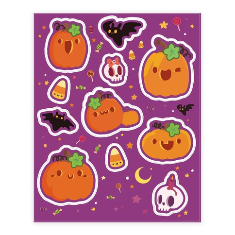 Cute 'n Spooky Halloween Sticker and Decal Sheet