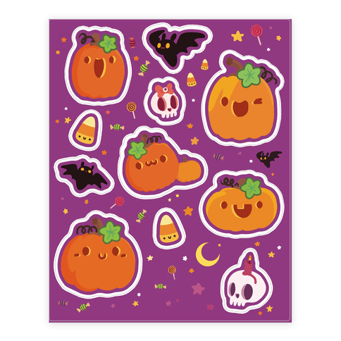 Cute 'n Spooky Halloween Sticker/Decal Sheet