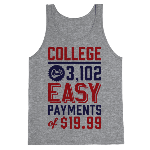 College Only 3,102 East Payments Of $19.99 Tank Top