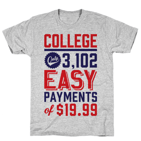 College Only 3,102 East Payments Of $19.99 Mens T-Shirt