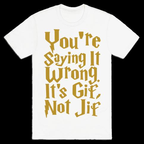 It's Gif Not Jif Mens T-Shirt