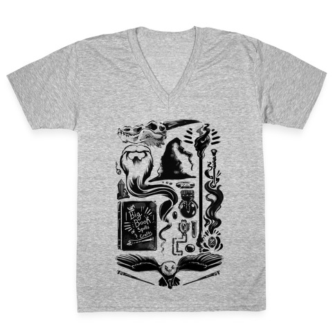 Tools of the Wizard V-Neck Tee Shirt