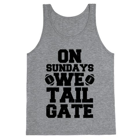 On Sundays We Tailgate Tank Top