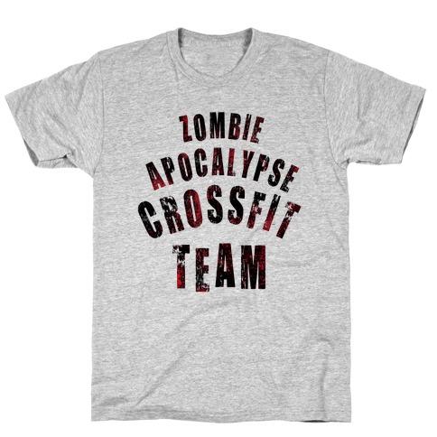 Zombie Apocalypse CrossFit Team T-Shirt