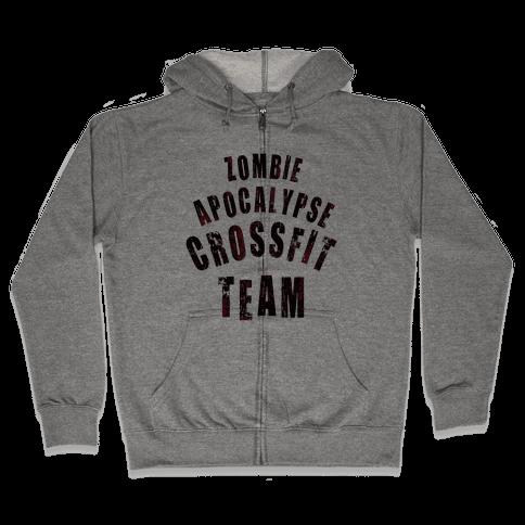 Zombie Apocalypse CrossFit Team Zip Hoodie