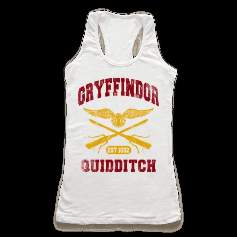 Gryffindor Quidditch (Vintage Tank) Racerback Tank Top