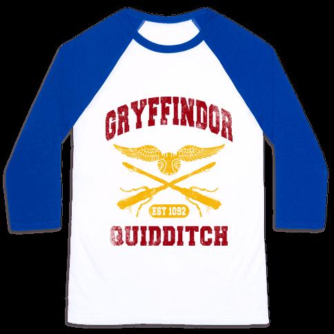 Gryffindor Quidditch (Vintage Tank) Baseball Tee