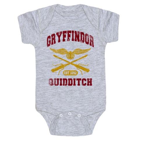 Gryffindor Quidditch (Vintage Tank) Baby Onesy