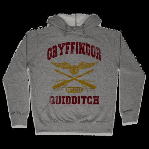 Gryffindor Quidditch (Vintage Tank) Hooded Sweatshirt