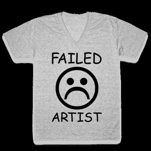 Failed Artist V-Neck Tee Shirt