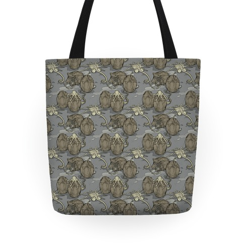 Face Hugger Pattern Tote