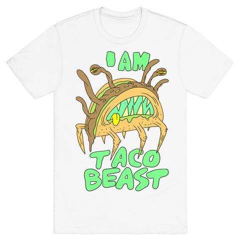 I Am Taco Beast Mens T-Shirt