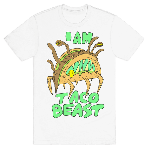 I Am Taco Beast Mens T-Shirt