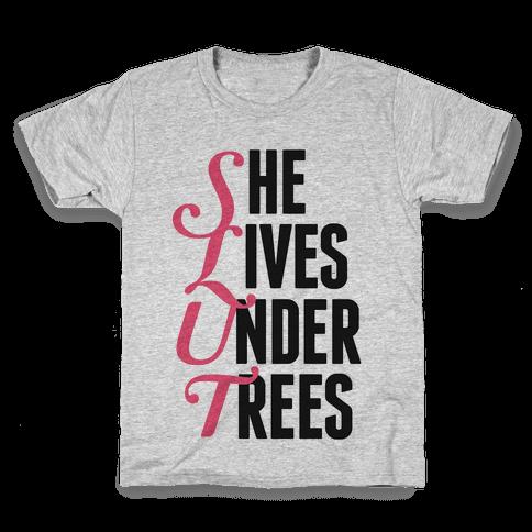 She Lives Under Trees Kids T-Shirt