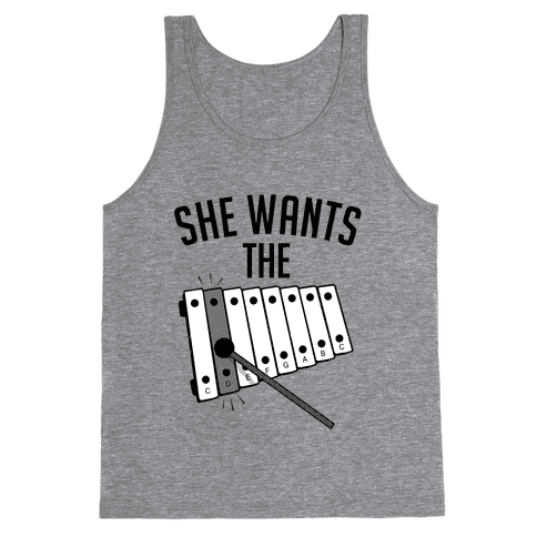 She Wants the D (halftone) Tank Top