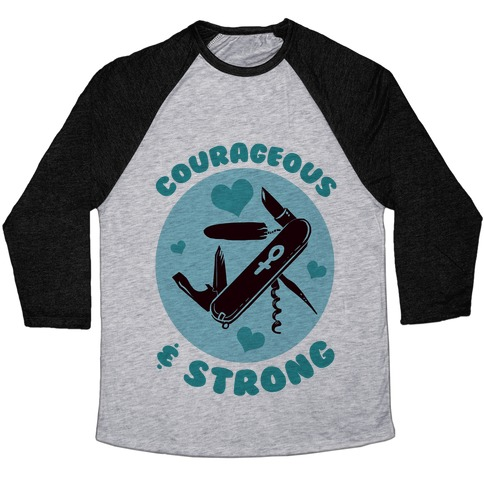 Courageous & Strong Baseball Tee