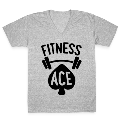 Fitness Ace V-Neck Tee Shirt