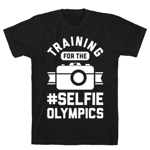 Training For The Selfie Olympics Mens T-Shirt