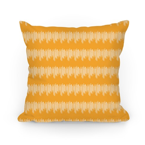 Yellow Radio Wave Pattern Pillow