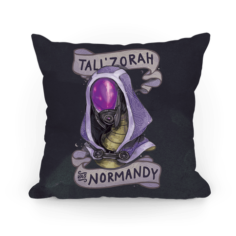 Tali'Zora Vas Normandy Pillow