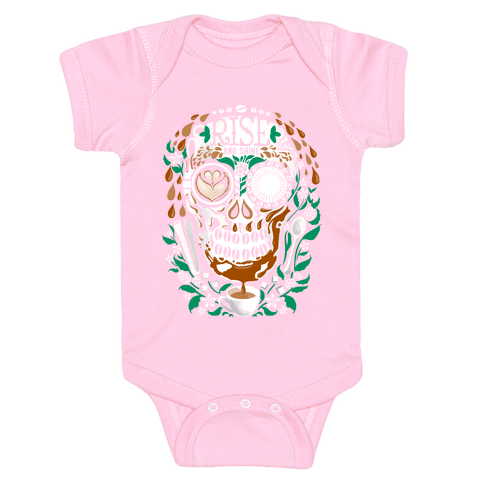 Rise and Shine Coffee Skull Baby Onesy