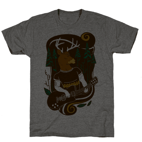 Rock and Roll Buck Mens T-Shirt