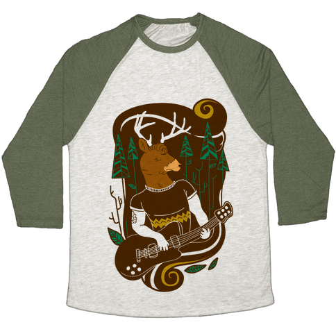 Rock and Roll Buck Baseball Tee