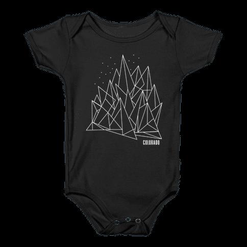 Colorado Mountains Baby Onesy