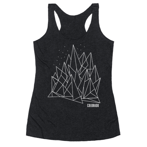 Colorado Mountains Racerback Tank Top