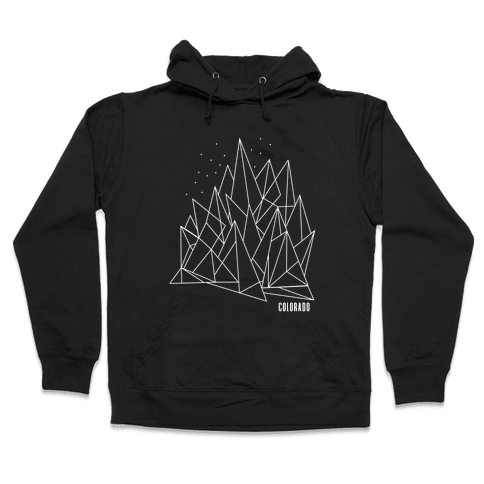 Colorado Mountains Hooded Sweatshirt