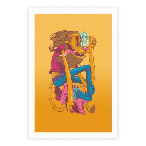 Rad Lion Poster